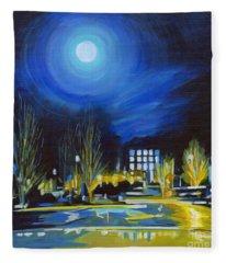 Light Side Of The Moon Fleece Blanket