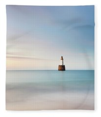 Lighthouse Blues Fleece Blanket