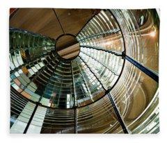 Lighthouse Lens Interior Lewis Fleece Blanket