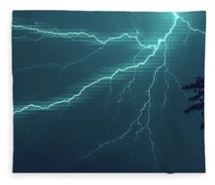 Lightning Grid Fleece Blanket