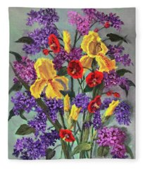 Lilac Days Fleece Blanket