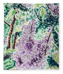 Lilac Dreams Fleece Blanket