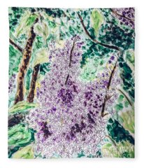 Lilac Dreams Fleece Blanket