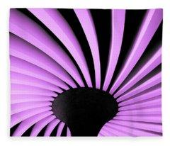 Lilac Fan Ceiling Fleece Blanket