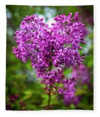 Lilac Heart Fleece Blanket