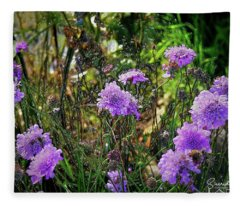 Lilac Jelly Pincushion Fleece Blanket