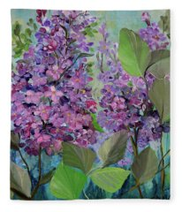 Lilac Love Fleece Blanket