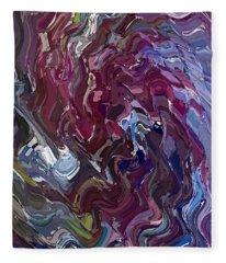 Lilac Oil Fleece Blanket