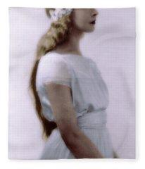 Lillian Gish Colorized Fleece Blanket