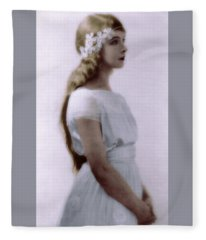 Lillian Gish Colorized Fleece Blanket