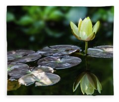 Lily In The Pond Fleece Blanket