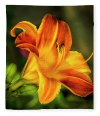 Lily Of The Day Fleece Blanket