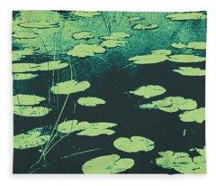 Lily Pad Fleece Blanket