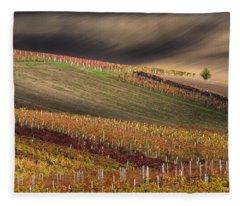 Line And Wine 1 Fleece Blanket