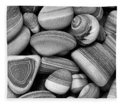 Lined Rocks And Shell Fleece Blanket