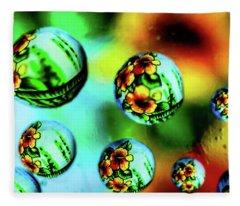 Liquid Lenses Fleece Blanket