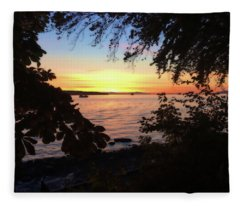 Liquid Sunset  Fleece Blanket