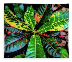 Liquid Tropical Colors Fleece Blanket
