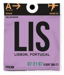 Lis Lisbon Luggage Tag I Fleece Blanket