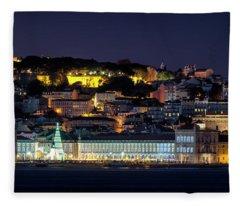 Lisbon In Christmas Time Fleece Blanket