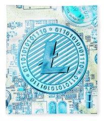 Litecoin Design Fleece Blanket