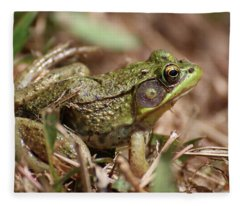 Little Green Frog Fleece Blanket