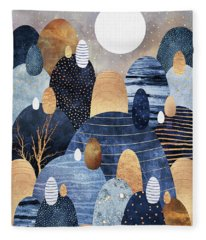 Little Land Of Pebbles Fleece Blanket