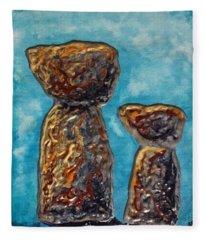 Little Latte Stones Fleece Blanket