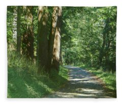 Little Lehigh Parkway Path Fleece Blanket
