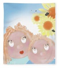 Little Ms And Bro Fleece Blanket