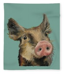 Little Piglet Fleece Blanket
