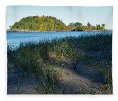 Little Presque Isle Island Fleece Blanket