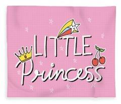 Little Princess - Baby Room Nursery Art Poster Print Fleece Blanket
