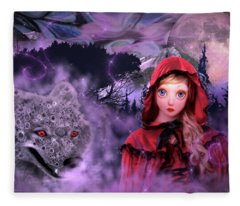 Little Red Fleece Blanket