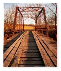 Little River Bridge Fleece Blanket