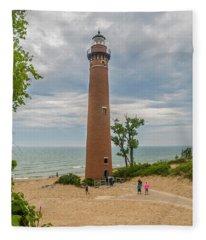 Little Sable Point Lighthouse Fleece Blanket