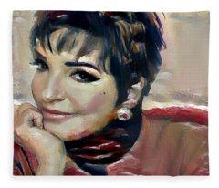 liza Minelli Fleece Blanket