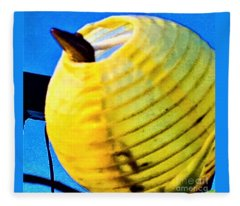 Lizard In Yellow Globe  Fleece Blanket