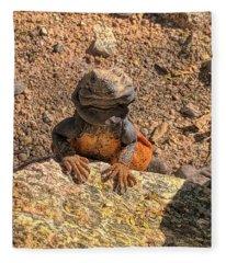Lizard Portrait  Fleece Blanket