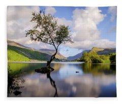 Llyn Padarn, Snowdonia Fleece Blanket