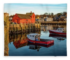 Lobster Traps, Lobster Boats, And Motif #1 Fleece Blanket