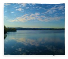 Loch Raven Reservoir Bridge Fleece Blanket