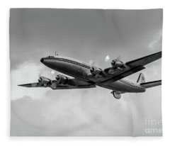 Lockheed Breitling Super Constellation  Fleece Blanket