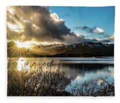 Lofoten Sunset Fleece Blanket