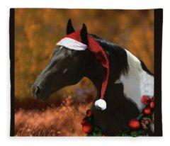 Fleece Blanket featuring the digital art Logan's Christmas by Melinda Hughes-Berland