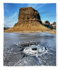 Lomagnupur Mountain Iceland Fleece Blanket