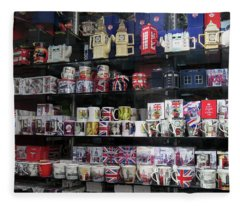 London England Shop Window Fleece Blanket