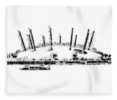 London O2 Arena Fleece Blanket