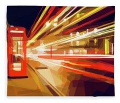 London Phone Box Fleece Blanket