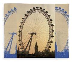 London Spokes Fleece Blanket